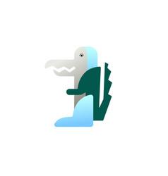 icon animal crocodile in flat minimalistic vector image