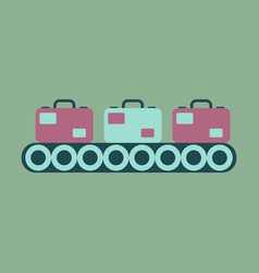 Icon in flat design for airport baggage check vector