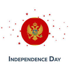 independence day of montenegro patriotic banner vector image
