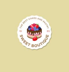 Logo sweet house berries vector