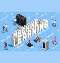 machine learning vector image