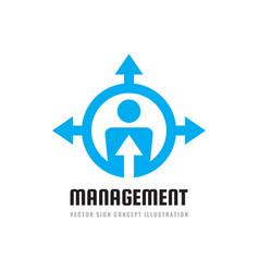 Management logo design hr concept sign vector
