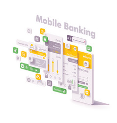 mobile internet banking app concept vector image
