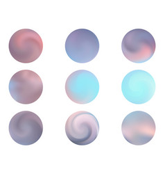 modern round gradients collection vector image