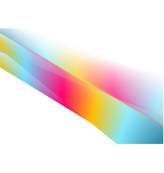 Multicolored gradient abstract stripes vector
