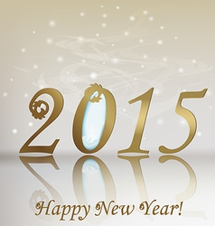 New 2015 year greeting card vector