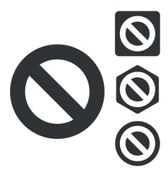 NO icon set monochrome vector image