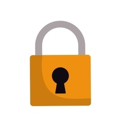 Padlock lock security protection symbol vector
