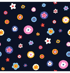 pattern floral simple big vector image