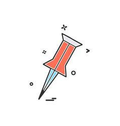 pin locator location icon design vector image