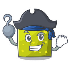 Pirate square character cartoon style vector
