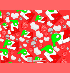 Pizza seamless pattern useful for restaurant vector