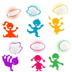 Playful children vector