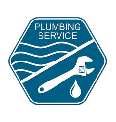 Plumbing service symbol for business vector