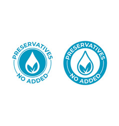 Preservatives no added leaf and drop icon vector