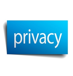 privacy blue paper sign on white background vector image