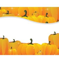 Pumpkins pile vector