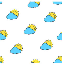 seamless pattern with suns disappeared behind vector image