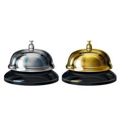 service bells 3d realistic vector image
