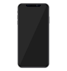 smartphone with frameless edge display vector image