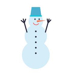 snowman winter character vector image