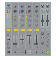 Sound dj mixer vector