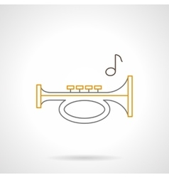 Sound horn flat line icon vector image