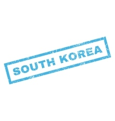 South korea rubber stamp vector