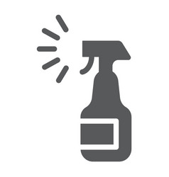 Sprayer glyph icon aerosol and clean bottle sign vector