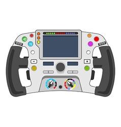 steering wheel F1 vector image