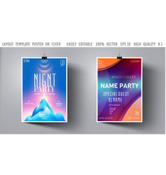 template night party flyerposterbooklet vector image