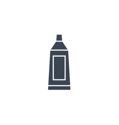 toothpaste tube related glyph icon vector image