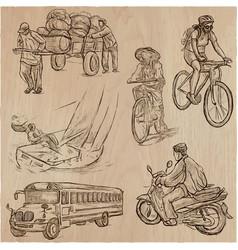 Transport transportation around the world - an vector