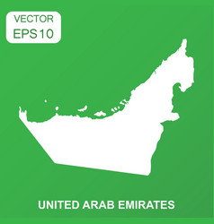 united arab emirates map icon business concept vector image