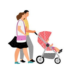 walking with bastroller vector image