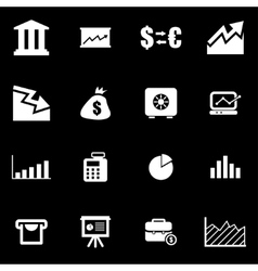 white economic icon set vector image
