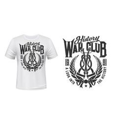 wreath t-shirt print mockup history war club vector image