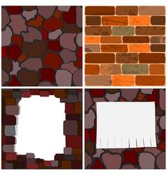 brick walls vector image vector image