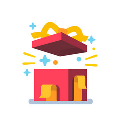 opened gift box surprise concept vector image vector image