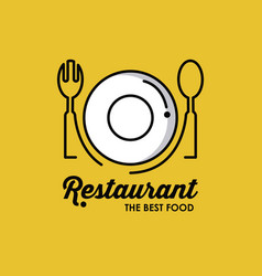 restaurant identity symbol vector image vector image