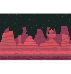 Seamless Night Desert Death Canyon Nature Concept vector image