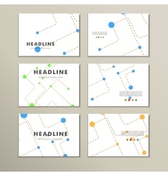 Abstract template presentation of dotted lines and vector image