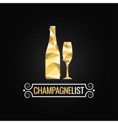 champagne bottle poly design background vector image