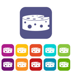 Cheese icons set vector