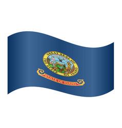 flag of idaho waving on white background vector image vector image