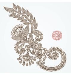 Flower Doodle Design Element vector image