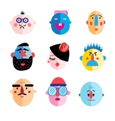 set of different characters vector image vector image