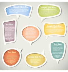 Speech bubbles with calligraphic elements vector image vector image