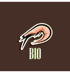 vintage with a shrimp vector image vector image