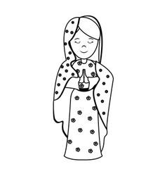 Virgin mary holy family icon image vector